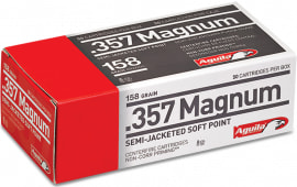 Aguila 1E572821 357 Magnum 158 GR Semi-Jacketed Hollow Point - 50rd Box