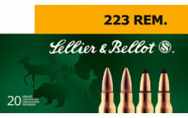 Sellier & Bellot SB223A Rifle Training .223/5.56 NATO 55 GR FMJ - 20rd Box