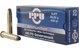 PPU PP30302 Standard Rifle 45-70 Government 405 GR Semi Jacketed Flat Point - 10rd Box