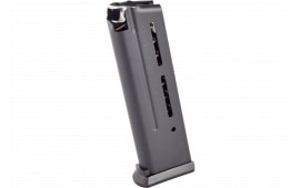 Wilson Combat 5009B 1911 Elite Tactical Magazine 9mm Luger 10 rd Stainless Steel Black Finish ETM Base Pad
