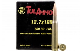 Tulammo TA127101 Centerfire Rifle 12.7x108mm 680 GR Full Metal Jacket - 10rd Box