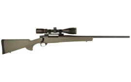 "Howa HGK62708+ Hogue Gameking Scope Package Bolt 7mm-08 Remington 22"" 5+1 Hogue Overmolded Green Stock Blued"