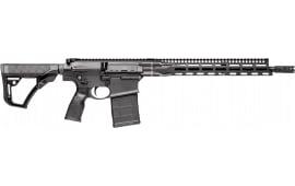 """Daniel Defense DD5V1 AR Style Semi Auto Rifle .308 Winchester 16"""" Barrel No Magazine 15"""" Free Float M-LOK Hand Guard Collapsible Stock Cerakote Matte Black"""