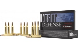 Nosler 39680 Defense Rifle 6.8mm Rem SPC Bonded Solid Base 90 GR - 20rd Box