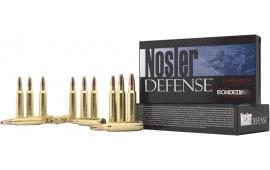 Nosler 39680 Defense Rifle 6.8mm Rem SPC Bonded Solid Base 90 GR - 20rd Box