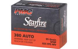 PMC 380SFA Starfire 380 ACP 95 GR StarFire Hollow Point - 20rd Box