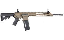 "LWRC SIX8A5RCK16 SIX8 A5 Semi-Auto 6.8mm Rem SPC II 16.1"" HB FB FH 30+1 Adjustable Flat Dark Earth Cerakote/Black"