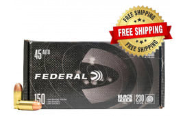 Federal Black Pack .45 ACP 230 GR Full-Metal Jacket Round Nose 600 Round Case - Free Shipping