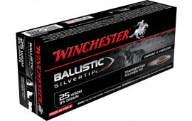 Winchester Ammo SBST25WSS Supreme 25 WSSM 85 GR Ballistic Silvertip - 20rd Box