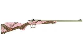 "Crickett KSA2164 Single Shot Bolt 22 LR 16.12"" 1 Synthetic Mossy Oak Pink Blaze Stock Stainless"