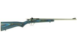 "Crickett KSA2223 Single Shot Laminate Bolt 22 LR 16.125"" 1 Laminate Blue Stock Stainless Steel"