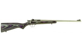 "Crickett KSA2228 Single Shot Bolt 22 LR 16.12"" 1 Laminate Purple Stock Stainless"