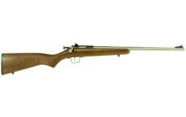 "Crickett KSA3238 Single Shot Bolt 22 LR 16.125"" 1 Walnut Stock Stainless Steel"