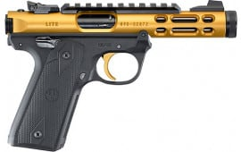 Ruger 43926 MKIV 22/45 Lite 4.4 10R TB Gold