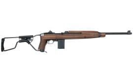 """Auto Ordnance AOM150 M1 Carbine Paratrooper Semi-Auto 30 Carbine 18"""" 15+1 Folding Walnut Stock Black Parkerized"""
