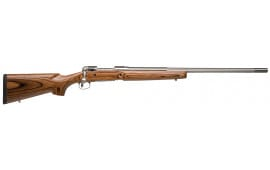 """Savage 18466 12 VLP Bolt 204 Ruger 26"""" 4+1 Laminate Brown Stock Stainless Steel"""