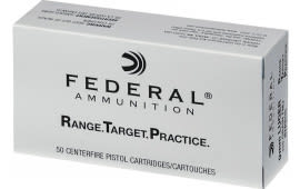Federal RTP9115 9mm 115 FMJ RNGTRT - Brass, Boxer, Re-loadable - 50 Rounds / Box In A 1000 Round Case
