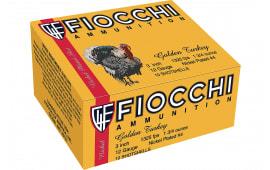"""Fiocchi 123TRK4 Turkey Nickel Plated 12GA 3"""" 1-3/4oz #4 Shot - 10sh Box"""