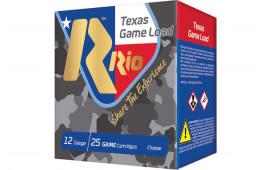 RIO Ammunition Ammunition Ammunition TGHV368TX 12 2.75 11/4OZ Txgame HV - 250sh Case