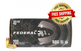 Federal Black Pack .40 S&W 165gr Full Metal Jacket 800 Round Case - Free Shipping
