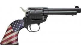 "Heritage Mfg Rough Rider Small Bore Single 22LR 4.75"" Blued, US Flag Grips- R22B4USFLAG"
