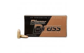 CCI Blazer Brass 9mm 115gr FMJ Ammunition 51991BB - 100rd Box