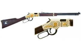 "Henry H004LE Golden Boy Law Enforcement Tribute Lever 22 Short/Long/Long Rifle 20"" 16 LR/21 Short American Walnut Stock Blued Barrel/Nickel Receiver"