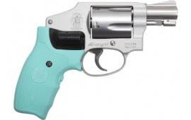 """Smith & Wesson 12555 642 .38 SPL+P 1.875"""" FS SS Robins EGG Blue Laser Laser"""