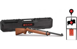 Ruger 31128 10/22 TARGET/CASE HWD/BLACK