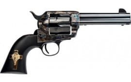 "Cimarron MP310GCI01BG Holy Smoker .45LC FS 4.75"" CC/BL Gold Cross Black Revolver"