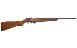 """Mossberg 38180 817 Bolt Action 17 HMR 21"""" 5+1 Wood Stock Blued"""