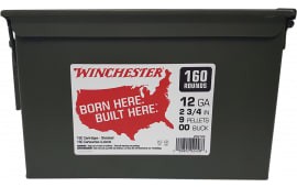 Winchester Ammo WW12C 12 00 BK 9 PEL CAN (2@160) 320rd - 320sh Case
