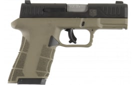 "Diamondback DBAM29FDE DBAM29 Sub-Compact Double 3.5"" 15+1/10+1 Flat Dark Earth Polymer Grip/Frame Grip Black Nitride Stainless Steel"