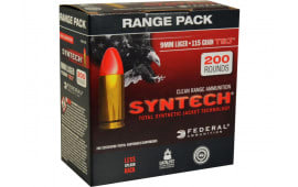 Federal AE9SJ1200 American Eagle Syntech 9mm Luger 115 GR Total Synthetic Jacket (TSJ) - 200rd Box