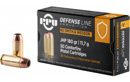 PPU PPD40 40S 180 Jacketed Hollow Point - 50rd Box
