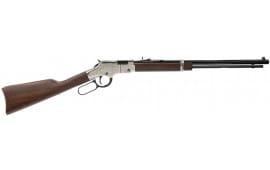 "Henry H004SE Engraved Silver Eagle Lever 22 Short/Long/Long Rifle 20"" 16+1 American Walnut Stock Blued Barrel/Nickel Receiver"