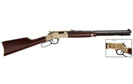 "Henry H006OM Big Boy American Oilman Tribute Lever 44 Magnum 20"" 10+1 American Walnut Stock Blued"