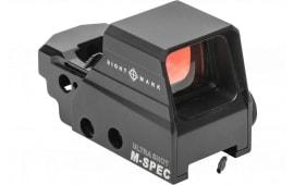 Sightmark SM26035 Ultra Shot M-Spec FMS 1x 33x24mm Obj 65 MOA Circle Dot Crosshair Black CR123A Lithium
