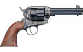 "Taylors and Company 700ADE 1873 Cattleman New Frame Model Taylor Tuned Single 4.75"" 6rd Walnut Navy Sized Grip CCH Frame Blued Revolver"