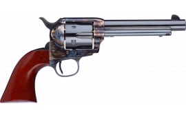 "Taylors and Company 701EDE 1873 Cattleman New Frame Model Taylor Tuned Single 5.5"" 6rd Walnut Navy Sized Grip CCH Frame Blued Revolver"