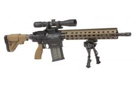 "HK MR762LRPA1 MR762 A1 Long Rifle Package II Semi-Auto 308 Winchester/7.62 NATO 16.5"" OR w/Scope 20+1/10+1 5-Position G28 with Adj Cheekpiece FDE Stock Black"