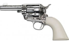 """E.M.F W45SSE434NMUI General Patton .45LC 4.75"""" SS Engraved Ivory Revolver"""