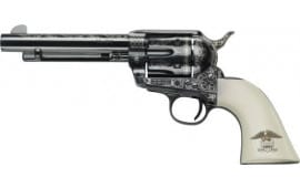 """E.M.F W357LLE434NMUI Liberty .357 MAG 4 3/4"""" Laser Engraved Blue Ivory Liberty Revolver"""