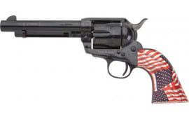 "E.M.F W357FRE512NMPT Freedom .357 MAG 5 1/2"" Laser Engraved Blue Patriotic FLG Revolver"