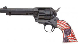 """E.M.F W45FRE512NMPT Freedom .45LC 5 1/2"""" Laser Engraved Blue Patriotic FLG Revolver"""