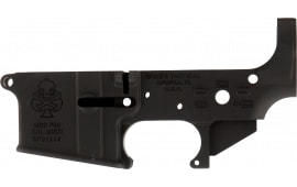 Spikes STLS029 Stripped Lower PHU with Spade AR Platform Rifle Black Hardcoat Anodized