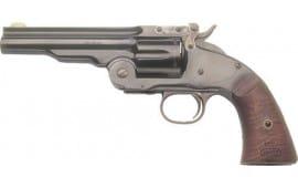 "Cimarron CA858 NO.3 Schofield 5"" FS Blued Walnut Revolver"