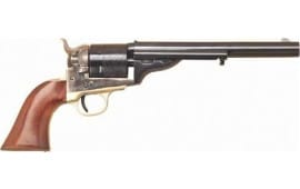 "Cimarron CA922 1872 Open TOP Navy .45LC 7.5"" FS CC/BLUED Walnut Revolver"