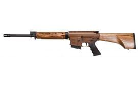 """Windham Weaponry R18FFTWS2308 308 Hunter A2 Suppressor Semi-Auto 308 Winchester/7.62 NATO 18"""" 5+1 Laminate Wood Nutmeg Stock Brown/Black"""