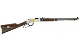 "Henry H004EMS Golden Boy EMS Tribute Edition Lever 22 Short/Long/Long Rifle 20"" 16 LR/21 Short American Walnut Stock Blued Barrel/Nickel Receiver"